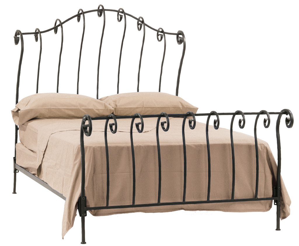 - Stratford Hand Forged Iron Sleigh Bed King Complete