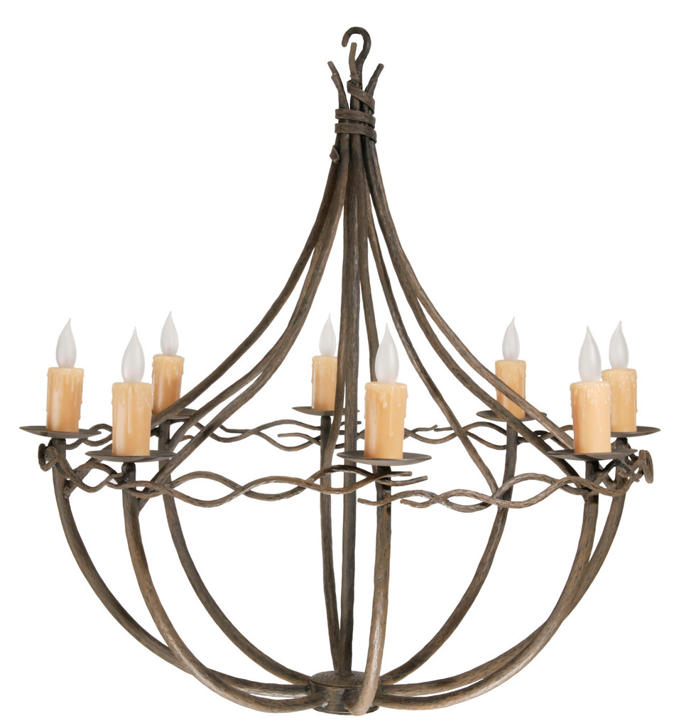 Norfork Iron Chandelier 8 Arm