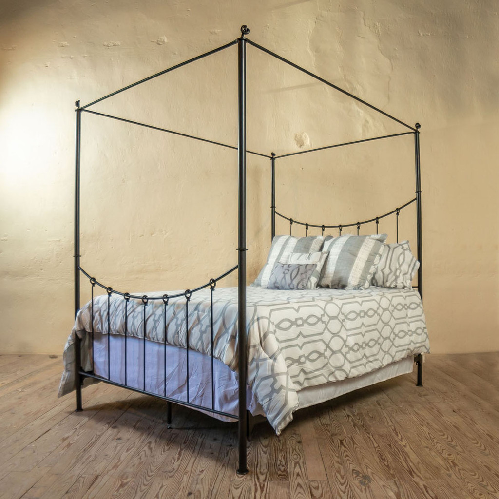 & Wrought Iron Canopy Bed Frame | King Size Iron Bed