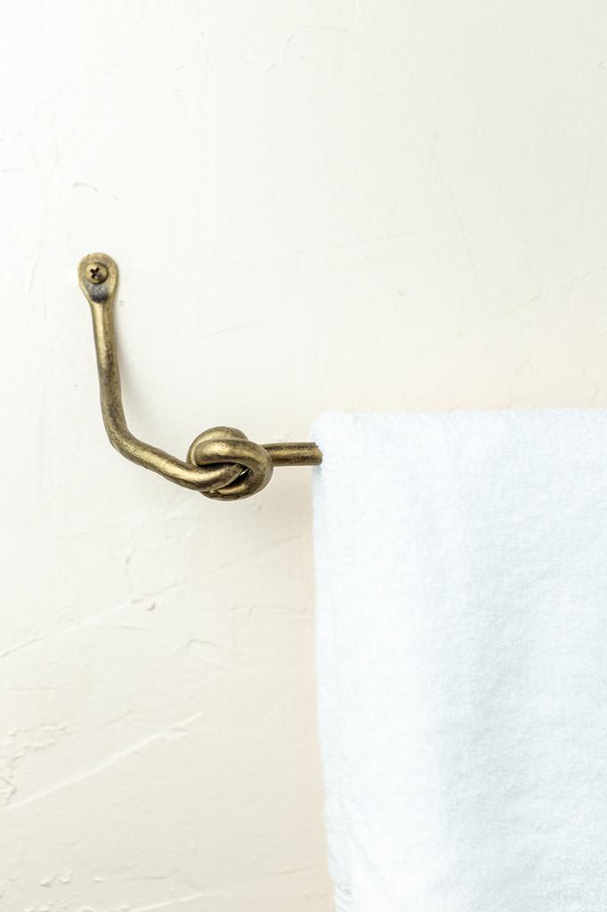 Knot Iron Towel Bar 32 Inch