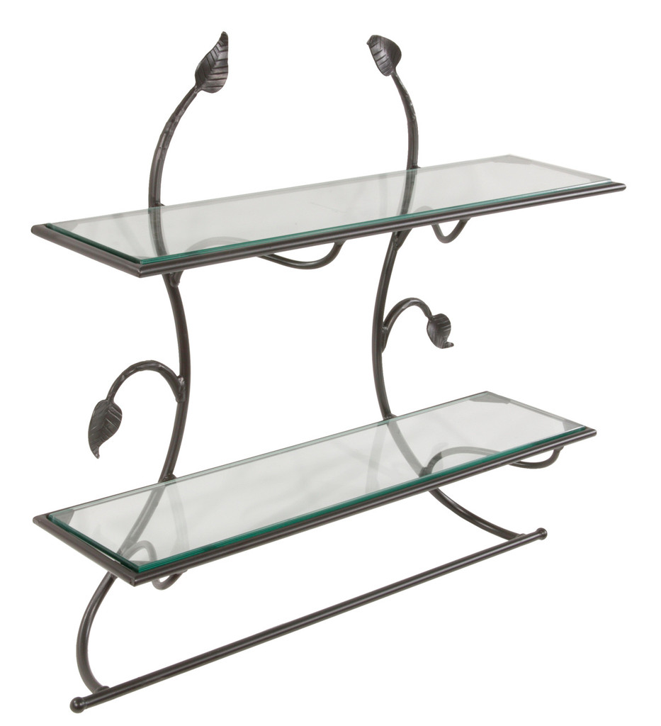 Iron Wall Shelf with Bar-Leaf Collection