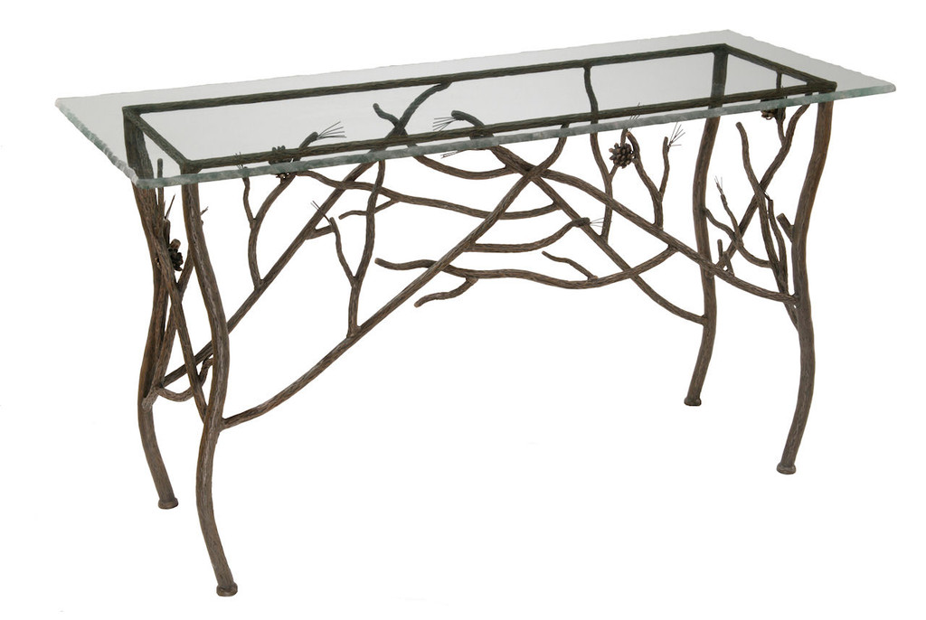 official photos 1bffc cc16d Pine Iron Console Table