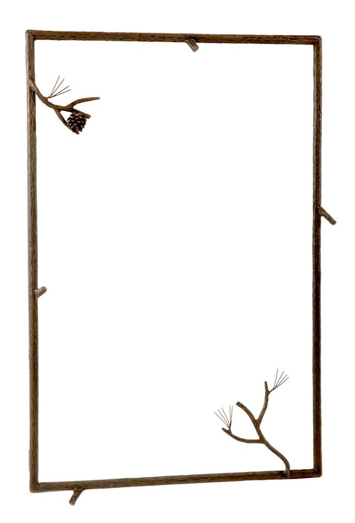 Pine Iron Wall Mirror