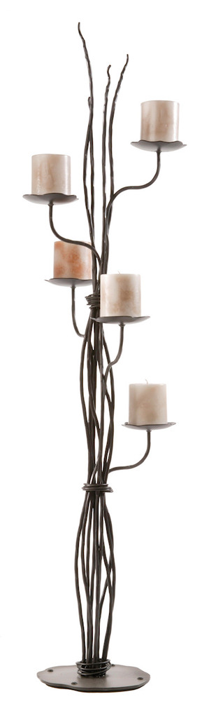 Rush Iron Floor Candelabra