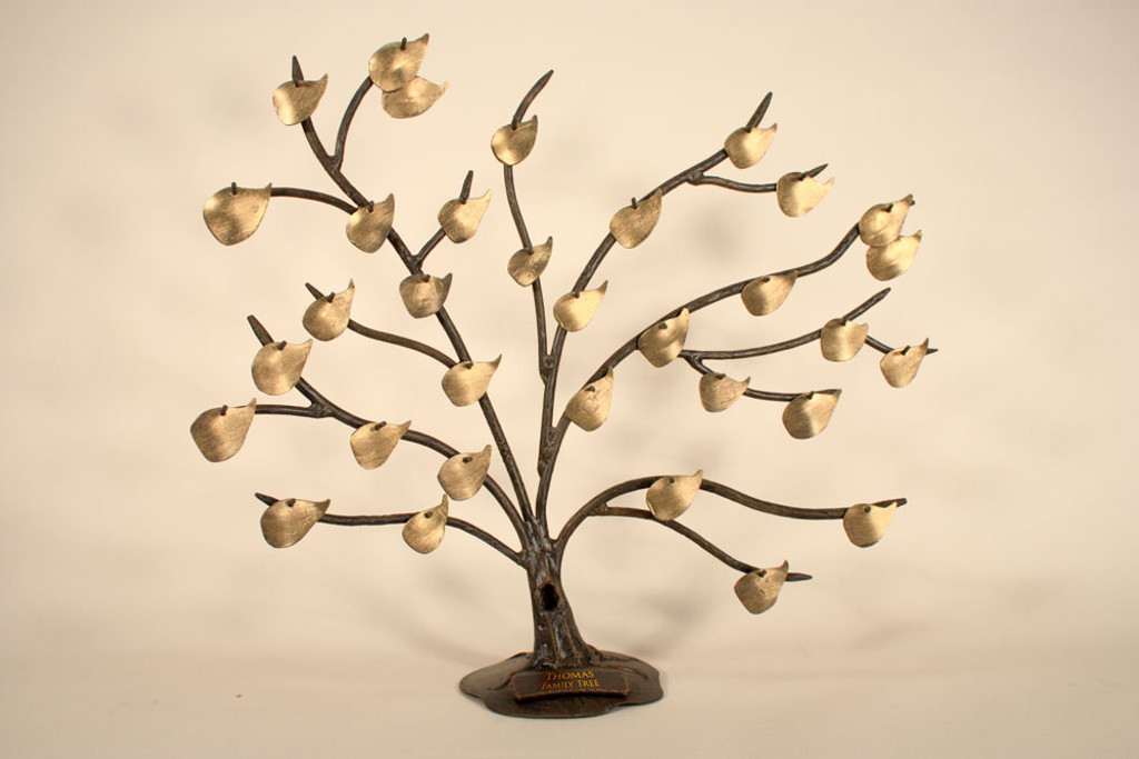 Heirloom Quality Iron Family Tree with Base