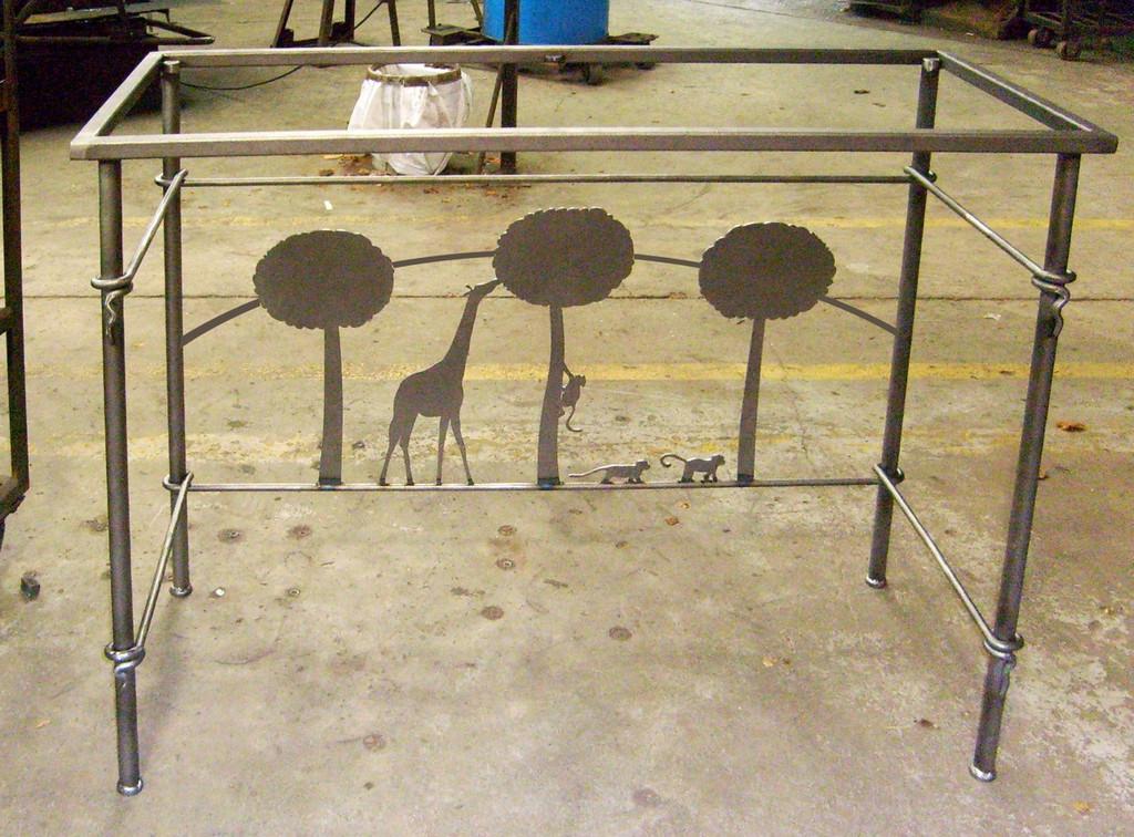 Custom Giraffe Console Table