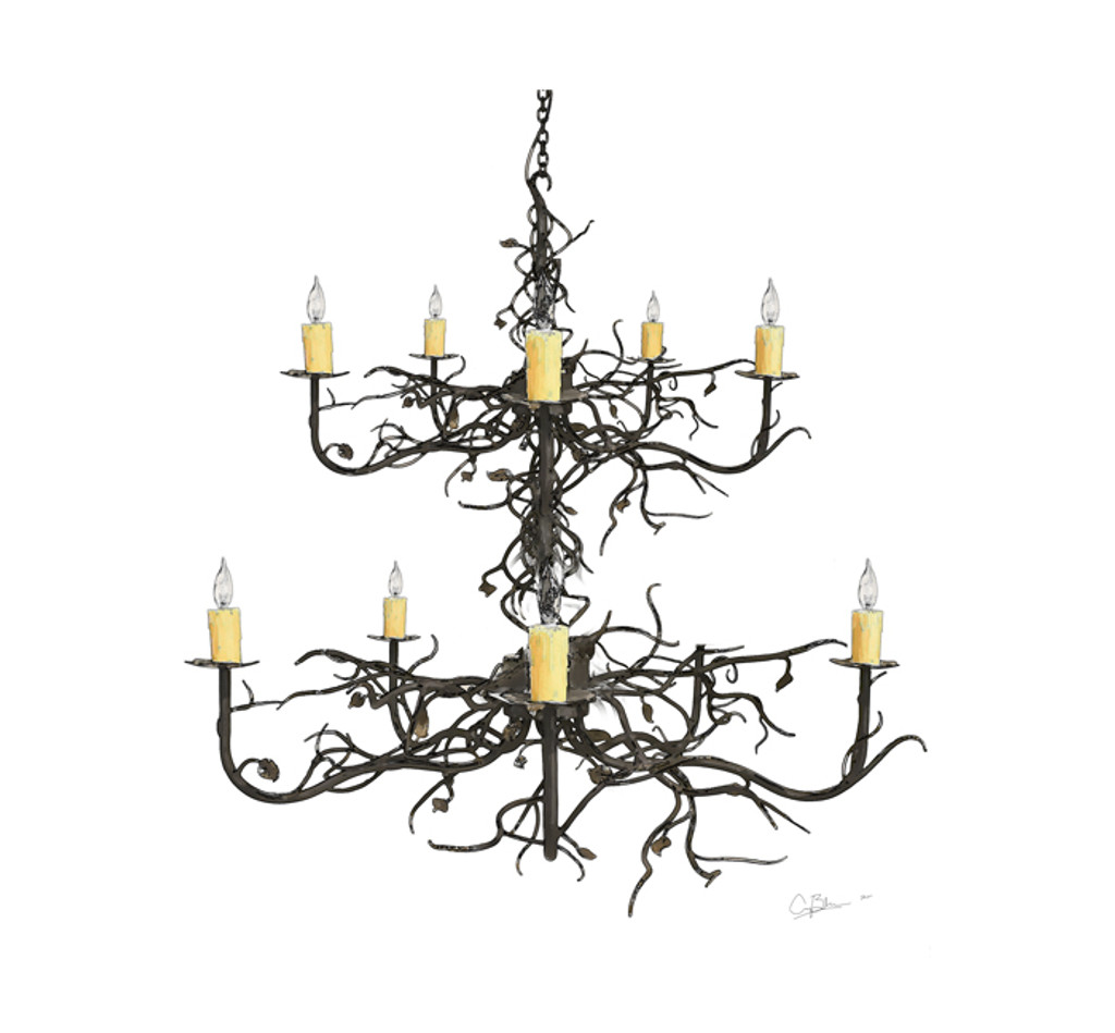 Custom 2 Tier Garden Gate Chandelier