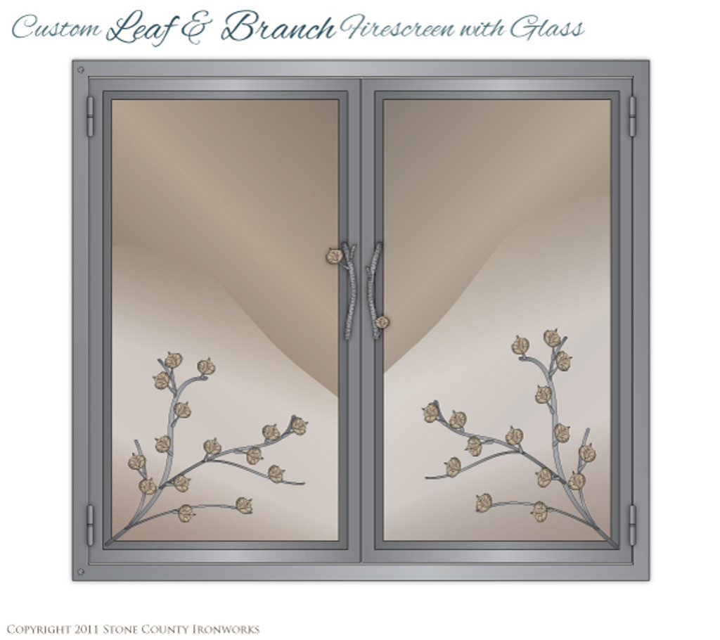 Custom Leaf & Branch Fire Screen