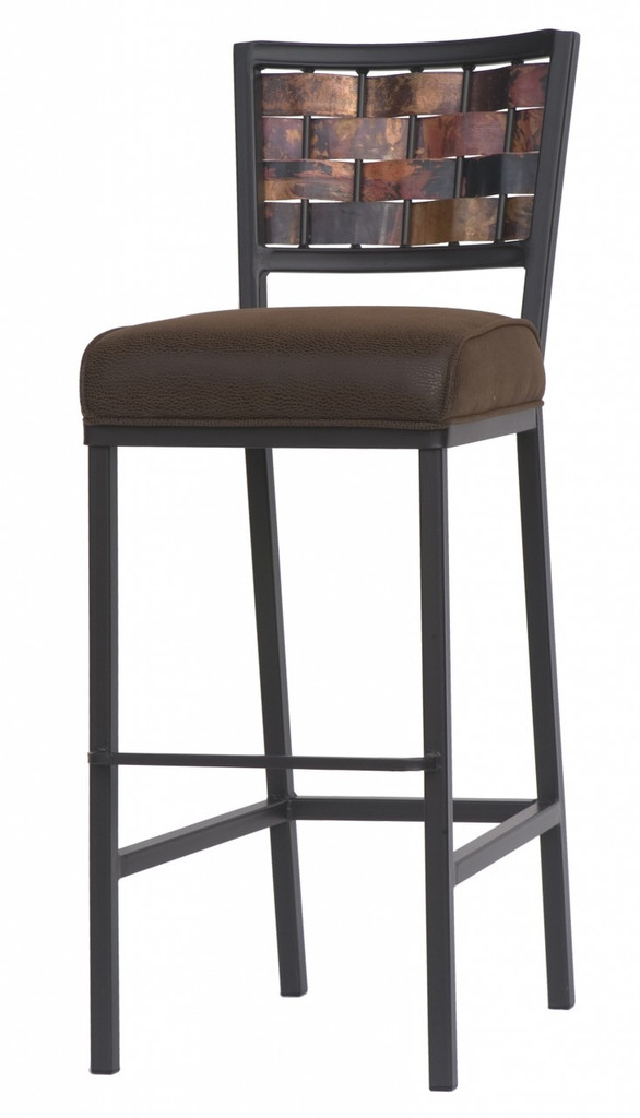 Rushton Hand Forged Iron Square Bar Stool 25 Inch