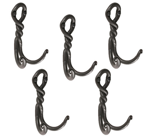 Twist Double Hook- 5 Piece Set