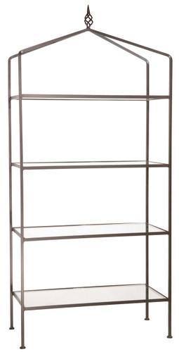 Iron Standing Shelf - Basketweave-4 Tier