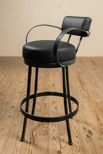 Cedarvale Iron Stool (with Back and Arms)
