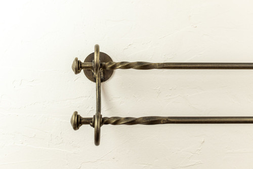 French Country Double Towel Bar  16""