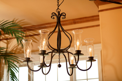 Williamsburg Carriage 6 Arm Iron Chandelier