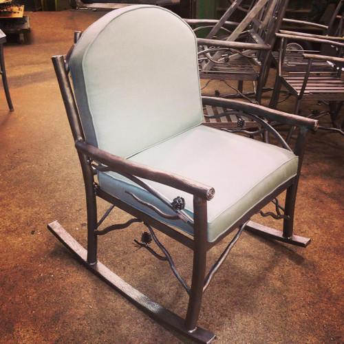 Custom Iron Rocking Chair