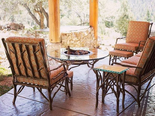 Custom Firepit and Lounge Area