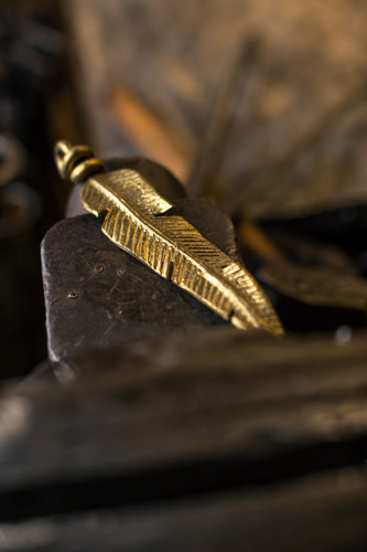 Hand-Forged Feather Charm