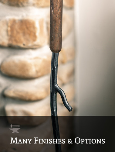 Sylamore Hand-Forged Iron Branch Fire Poker