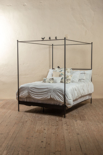 Bird on a Wire Iron Canopy Bed