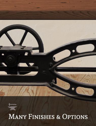 Steam Crank Adjustable Dining Table