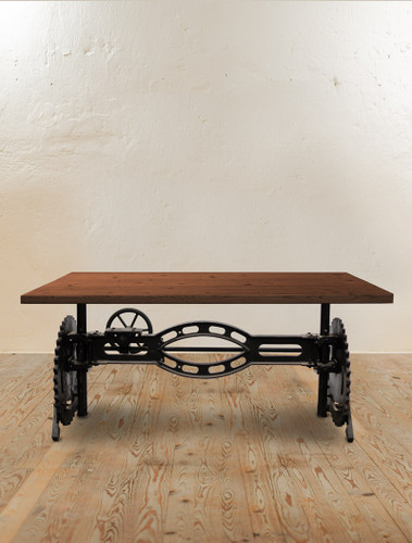 Steam Crank Adjustable Dining Table