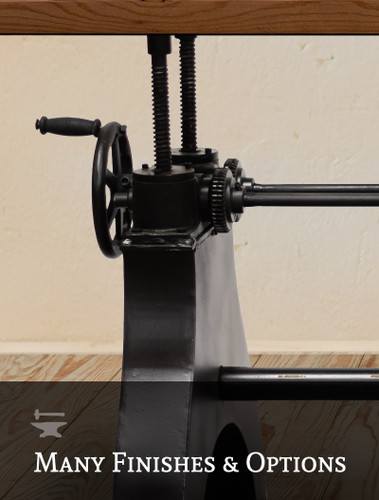 Factory Crank Adjustable Dining Table