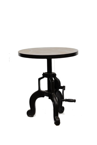 Coal Crank Adjustable Side Table
