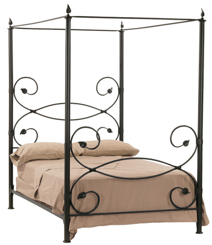 Leaf Canopy Iron Queen Bed
