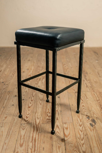 Forest Hill Iron Stool with No Back