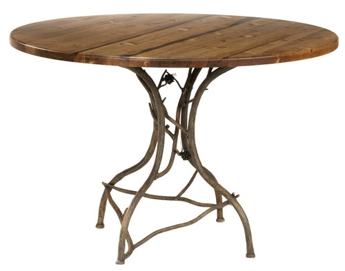 Pine Iron Breakfast Table
