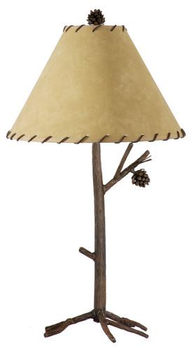 Pine Iron Table Lamp