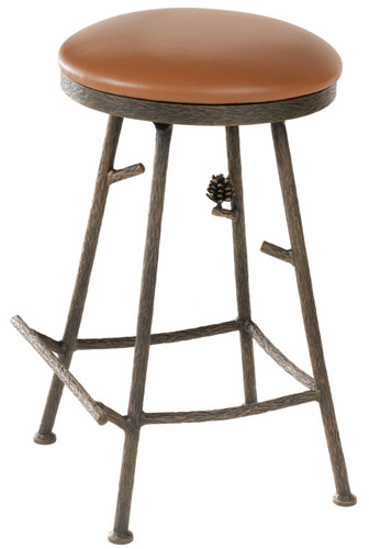 Pine Iron Stool (Basic)