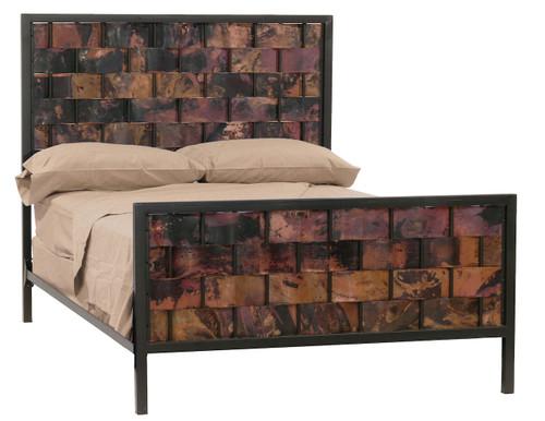 Rushton Full Iron Bed  Copper