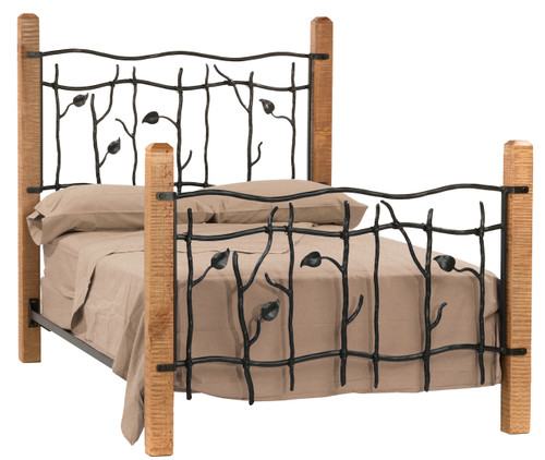 Sassafras Twin Iron Bed