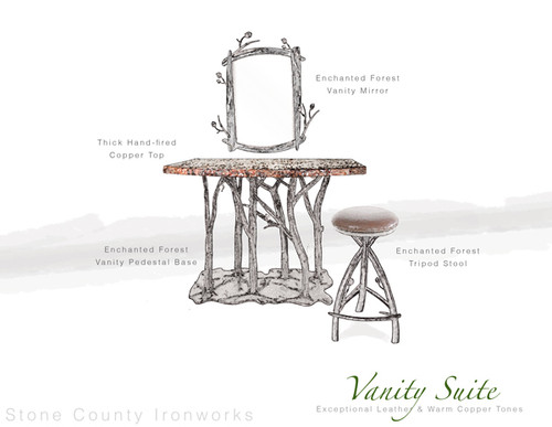 Custom Enchanted Forest Vanity Suite