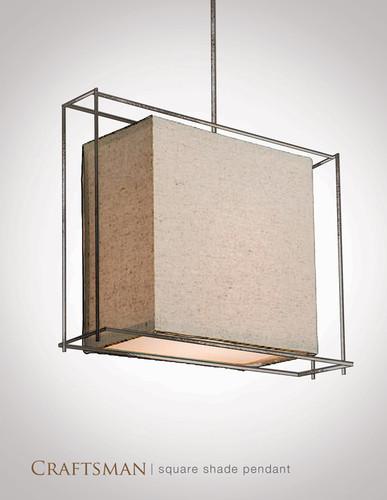 Custom Industrial Square Pendant