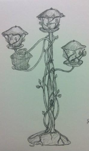 Custom Pedestal Library Lanterns