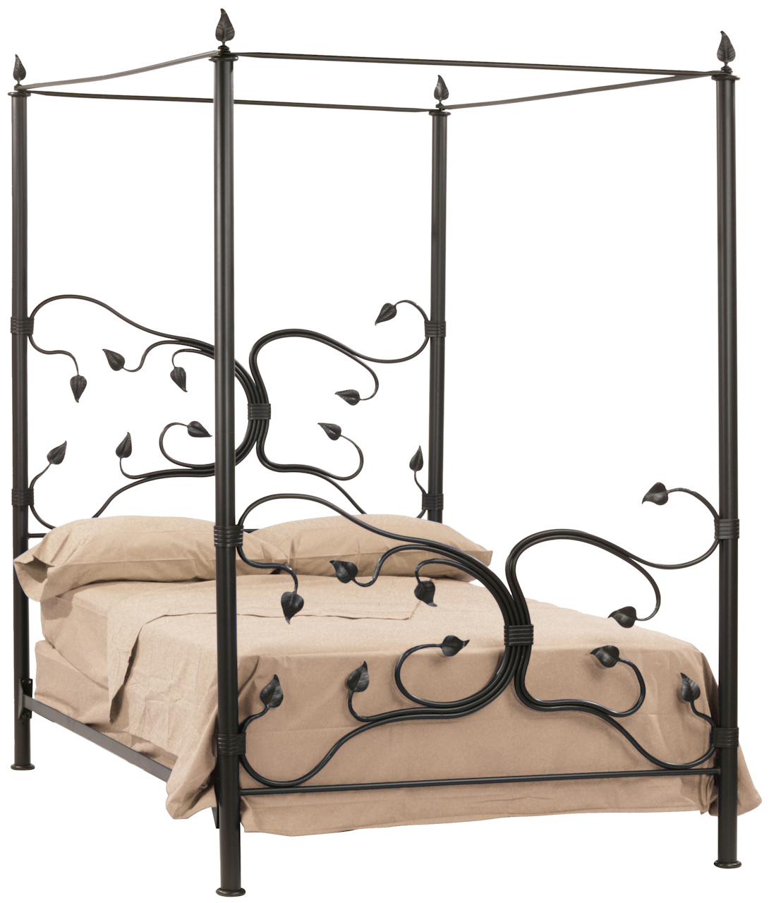 - Queen Wrought Iron Canopy Bed Metal Tree Bed Frame