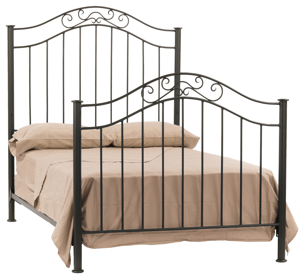 Richmond Hand Forged Iron Bed Queen Complete With Hb Fb Rails