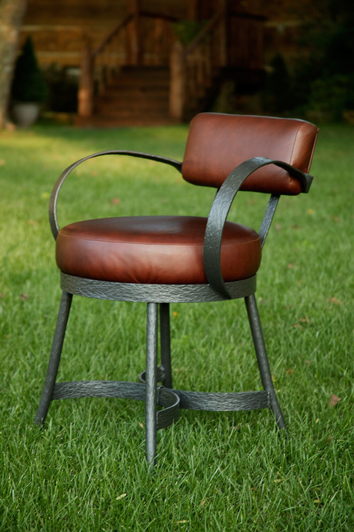 Iron Armchair Custom Upholstered Accent Chairs