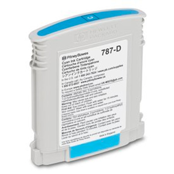 Pitney Bowes 787-D Genuine Cyan Ink for SendPro P and Connect Series