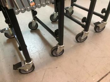 """Best® Gravity Conveyor - 18"""" x 12'  Adjustable Skate Wheels"""