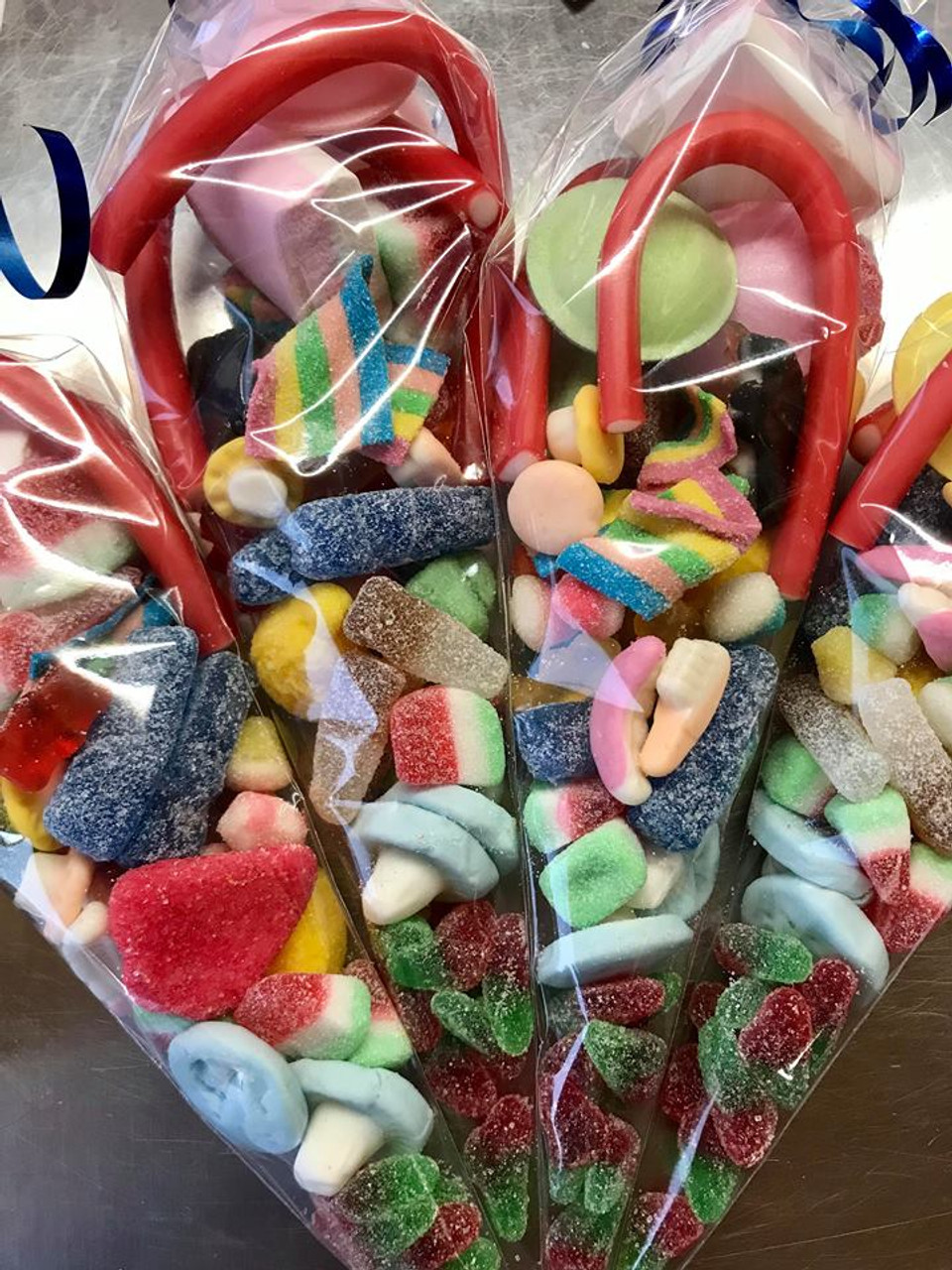 Sweet Cone Bags, filled with pick and mix sweets*