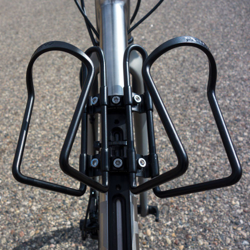 image of double bottle adapter on bike