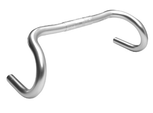 The Nitto Grand Randonneur handlebar, upward slope from center, nice flare at drops