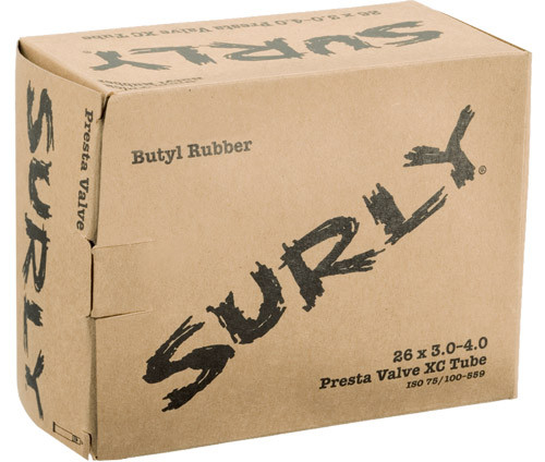 Surly Fat Bike Tube - BIG NOTE while the package says 3.0-4.0 is should be 3.0-4.8  Surly is reprinting