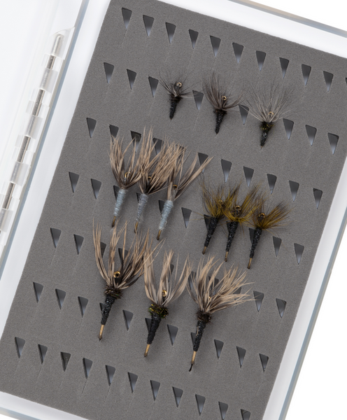 Fly Box with 12 Tenkara Flies