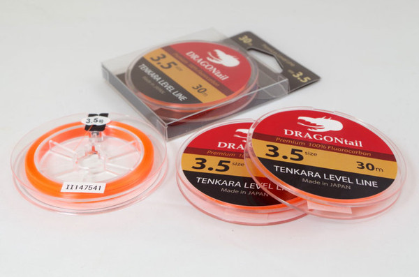 DRAGONtail Tenkara Level Line, #3.5 - 30m Spool