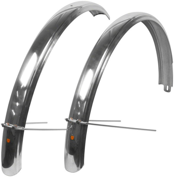 Velo Orange Fluted Fender Set for 700c x 55 Polished Silver