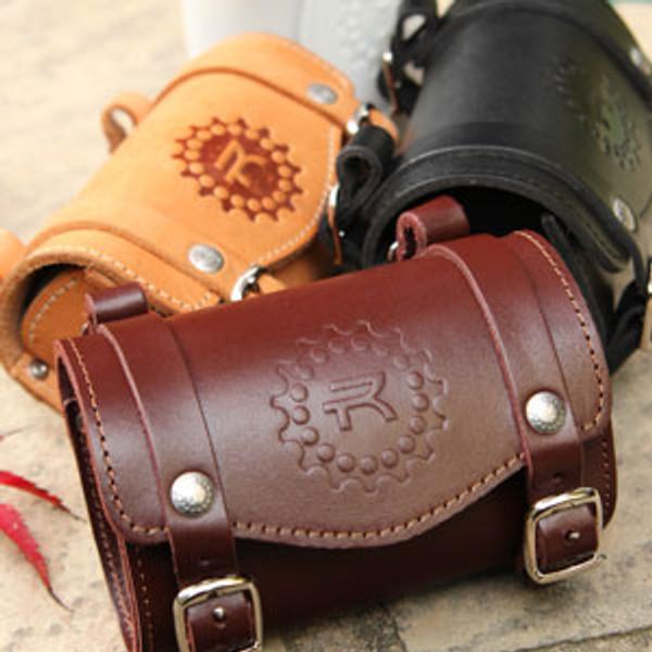 Rivet Leather Saddlebag